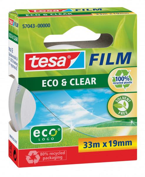tesafilm Eco & Clear unsichtbar 33 m x 19 mm