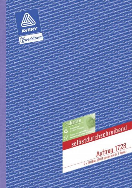 Avery Zweckform Auftragsbuch A4