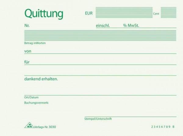 RNK 3030 Quittungsblock A6 quer