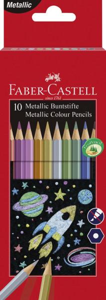 Faber-Castell Buntstifte metallic 10 Farben