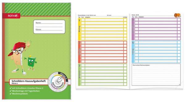 Roth Schreiblern Hausaufgabenheft 2.Klasse Format A4