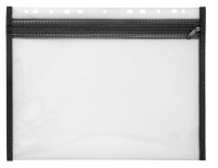 Reißverschlussmappe schwarz 287 x 214 mm