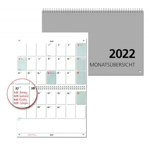 Güss Wandkalender A4 quer 1 Monat 2 Seiten