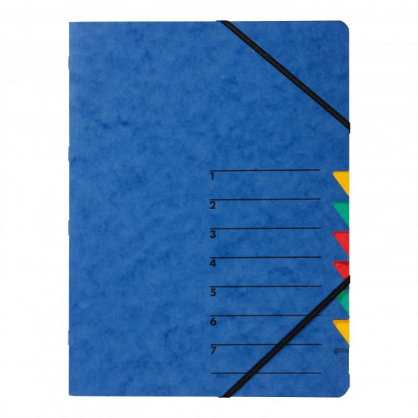 Pagna Ordnungsmappe blau 7 Fächer