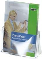 768070-Tisch-Prospekthalter-acrylic-1-Fach-fuer-A4-glasklar