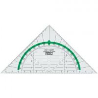 Geodreieck 16cm transparent Green Line