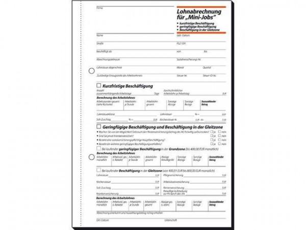 Sigel LO519 Lohnabrechnung Mini-Jobs