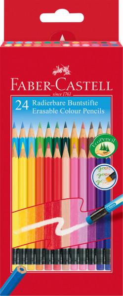 24 Radierbare Buntstifte Faber Castell