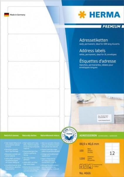 Herma 4666 Adressetiketten 88.9 x 46.6 mm