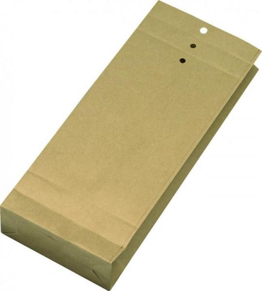 Musterbeutel 140 x 345 x 50 mm braun mit Falte