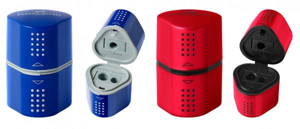 FABER-CASTELL Dosenspitzer Grip 2001 blau oder rot