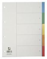 850261-Q-CONNECT-Blanko-Register-aus-buntem-Kunststoff-A4-5-