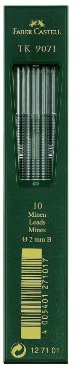 FABER-CASTELL TK-Minen 9071 tiefschwarz Härtegrad HB 10 Minen