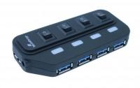 MediaRange USB Hub für bis zu 4 Geräte