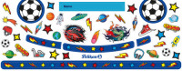Pelikan Sticker Fussball blau für Pelikan Malkasten K12 und K24