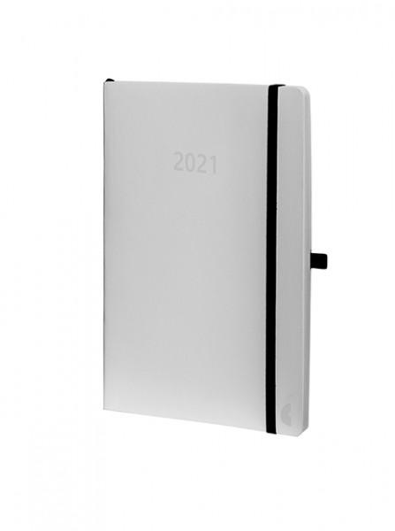 Chronoplan 50931 Buchkalender 2021 weiss