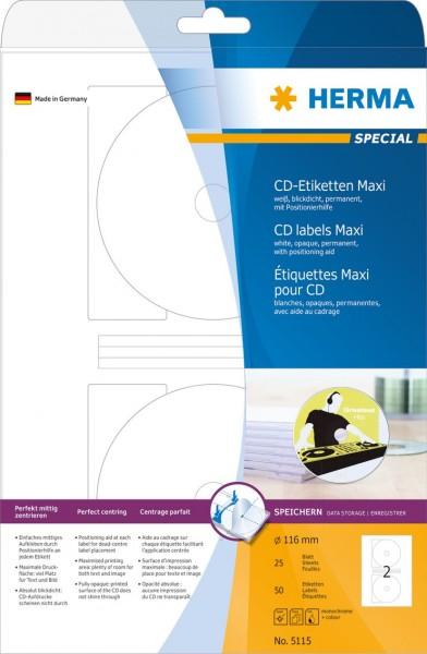 395115-CD-Etiketten-weiss-116-mm-Papier-matt-50-St