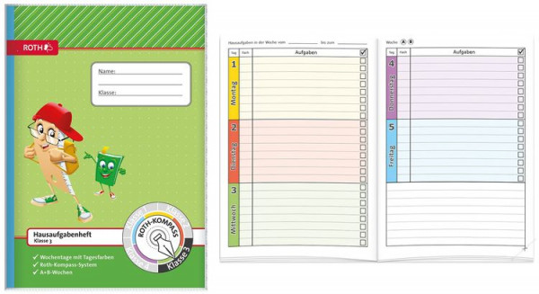 Roth Schreiblern Hausaufgabenheft 3.Klasse Format A5