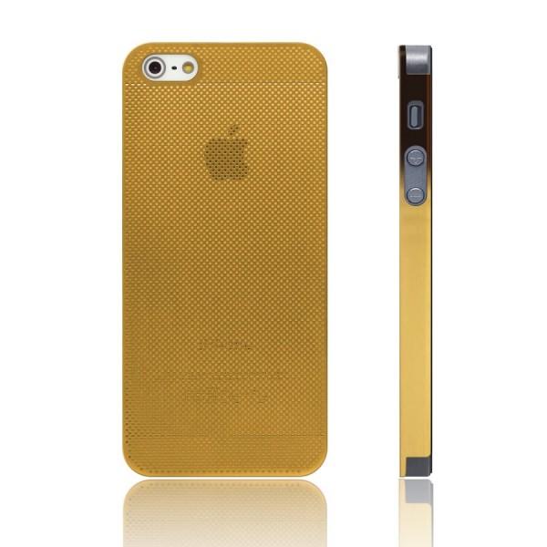 iPhone 5/5S Cover Edelstahl gold