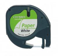 620133000-LetraTag-Schriftband-Papier-4-m-x-12-mm-Schwarz-We