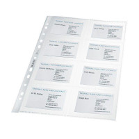 Leitz Visitenkarten Prospekthüllen glasklar