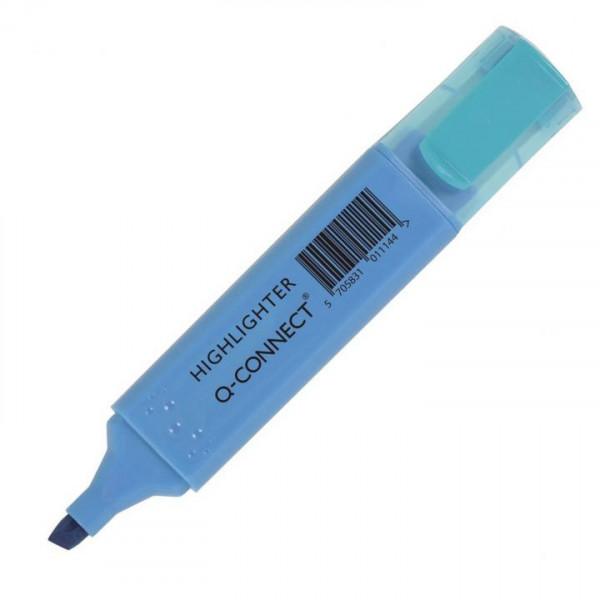 Q-Connect Textmarker Leuchtmarker Etui 6 Farben 2-5mm Strichstärke Marker Stift