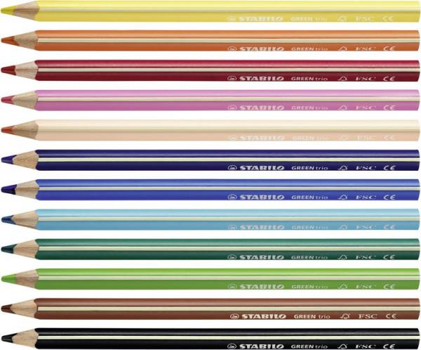 Stabilo GreenTrio Buntstifte umweltfreundlich 12 Farben_1