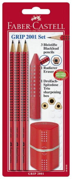 FABER CASTELL GRIP 2001 set 5tlg rot