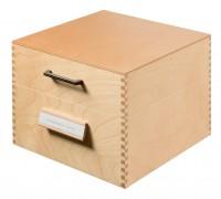 HAN Karteikasten Holz für Format A5 mit Deckel