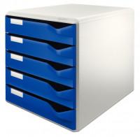 LEITZ Schubladenbox 5 Schubladen blau
