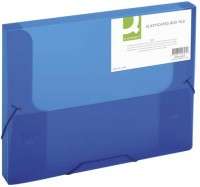 Q-CONNECT Sammelbox transparent blau