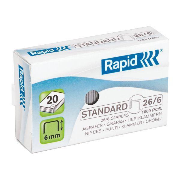 Rapid Heftklammern 26/6mm Standard verzinkt 1000 Stück