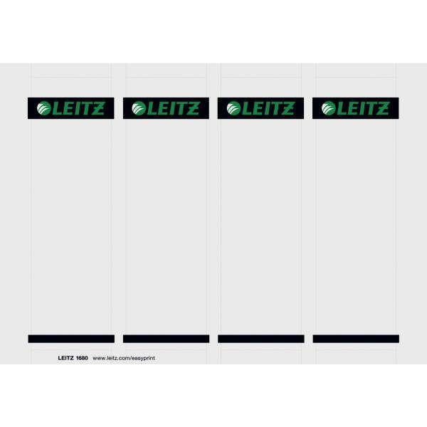 LEITZ Rückenschilder zum Einstecken Karton, kurz, breit, 100 Stück, lichtgrau
