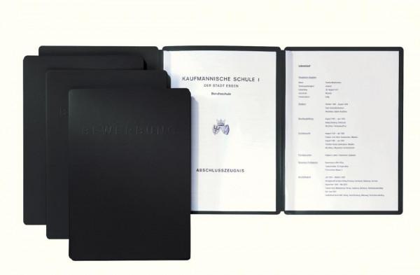 Pagna Bewerbungsmappe mit 2 Klemmschienen schwarz