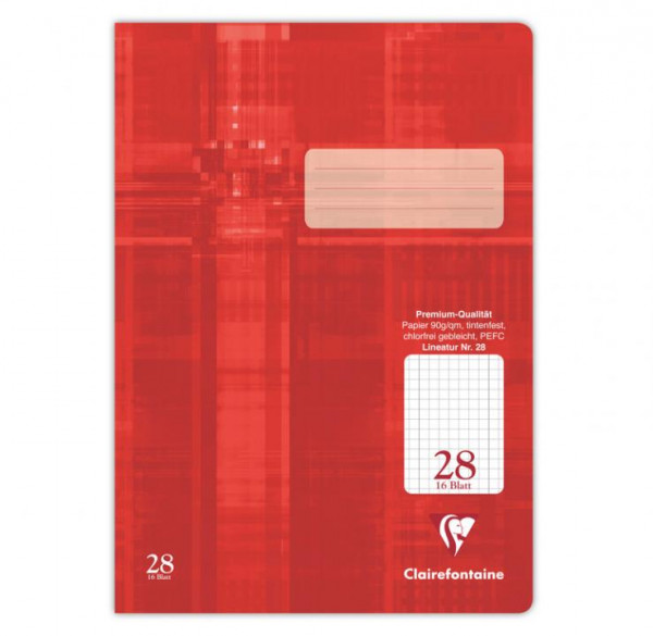 Clairefontaine Schulheft Lineatur 28