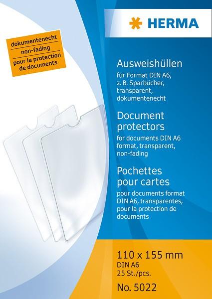 Ausweishülle Format DIN A6 für Impfausweis, Reisepass oder Sparbücher