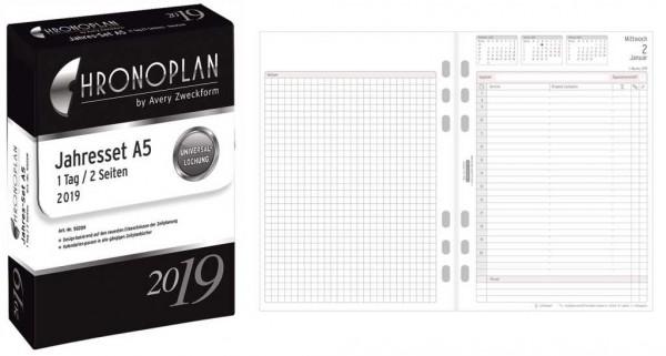 Chronoplan 50209 Jahres Set A5 2019 Paper Markt Buroartikel