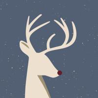 CHIC MIC Serviette Napkin Reindeer Rudolph