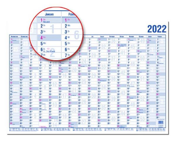 Güss Wandplaner Kalender 120 x 80 cm 2022