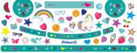 Pelikan Sticker Herz türkis für Malkasten K12 und K24