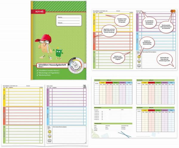 Roth Schreiblern Hausaufgabenheft 1.Klasse Format A4