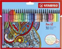 Stabilo Pen 68 Filzstifte 30 Stück