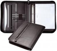 Konferenzmappe DIN A4 Echt Leder schwarz