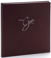 Goldbuch Gästebuch braun