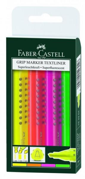 Faber-Castell Textmarker GRIP 4er Etui
