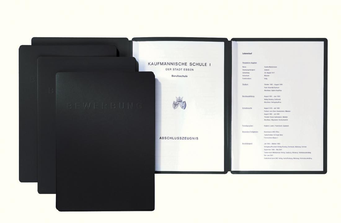 Blau PAGNA START A4 Bewerbungsmappenset  5 Stück