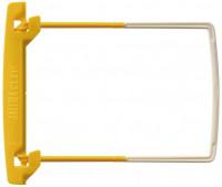 Abheftbügel Aktenbinder weiss gelb