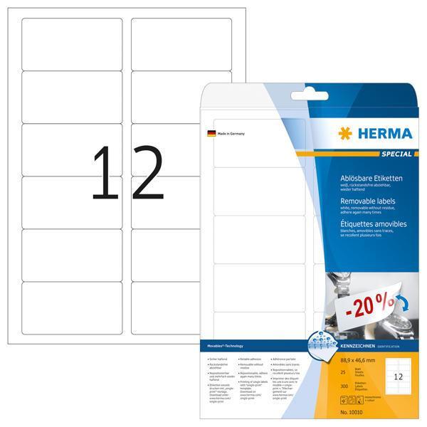 HERMA 5052 ablösbare Etiketten