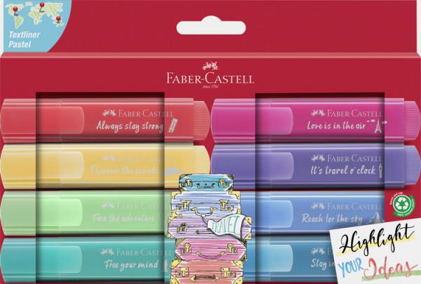 Faber-Castell Textmarker 8 Stück pastell