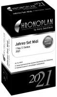Chronoplan Jahres-Set Midi 2021 1 Tag 2 Seiten